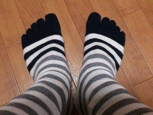 爪水虫(爪白癬)の感染予防に履いている五本指靴下